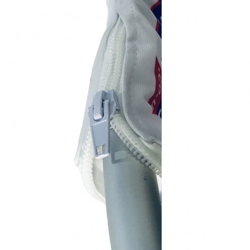 Simple zip to secure fabric double sided graphics