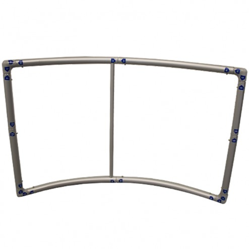 Push fit frame with labelled parts