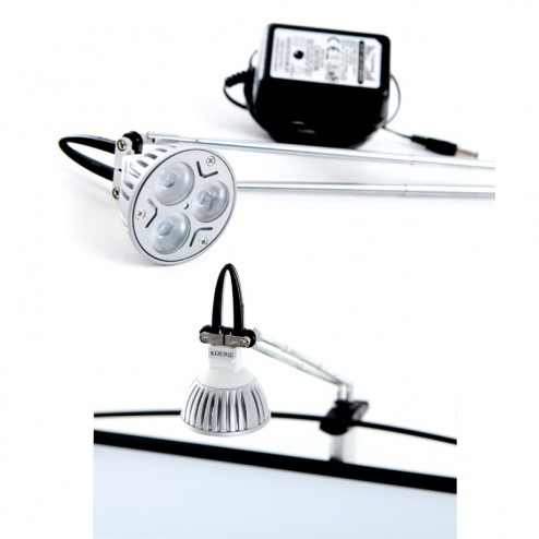 Optional clip on LED light