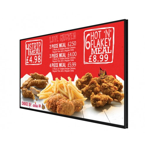 Great for fast food menu display