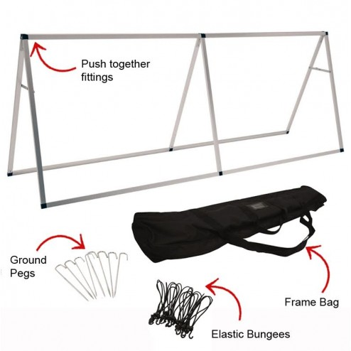 Carry bag, pegs and bungees included
