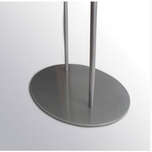 Stable powder coated steel base