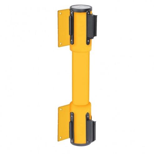 Double wall mounted belt barrier