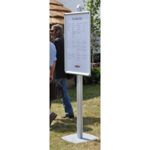 Freestanding event poster holder