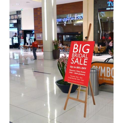 Retail display easel