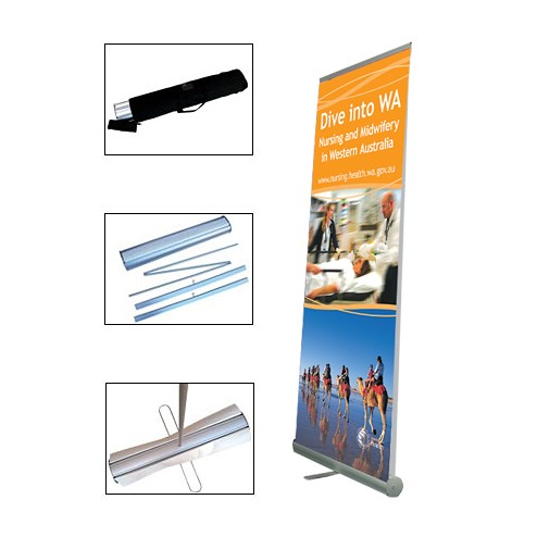 ECO-ROLLA II Double sided version of our best selling roll up banner display stand