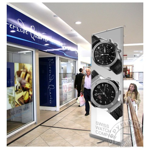 Roller Banner Stand Ideal for Shopping Centres