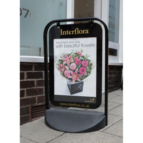 Pavement sign with A2 poster holder