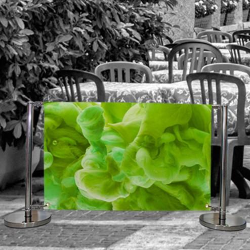 Outdoor restaurant barrier