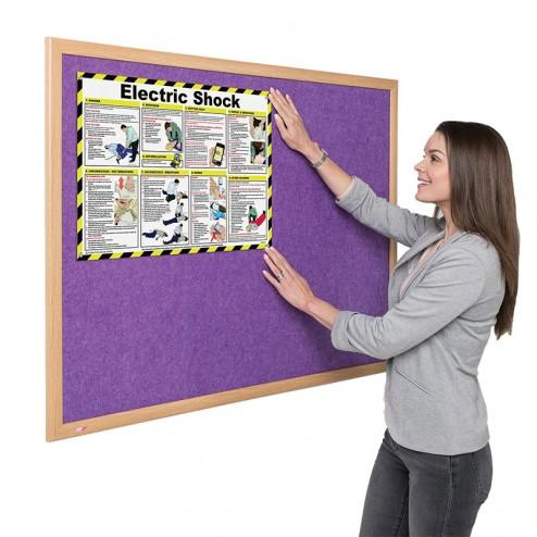 Eco-friendly Light Oak Notice Board