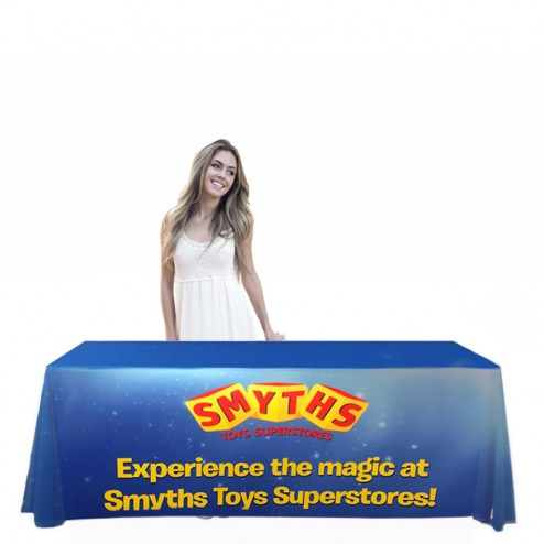 Large custom printed table cloth