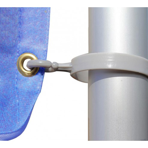 Flag attaches to the pole using eyelets