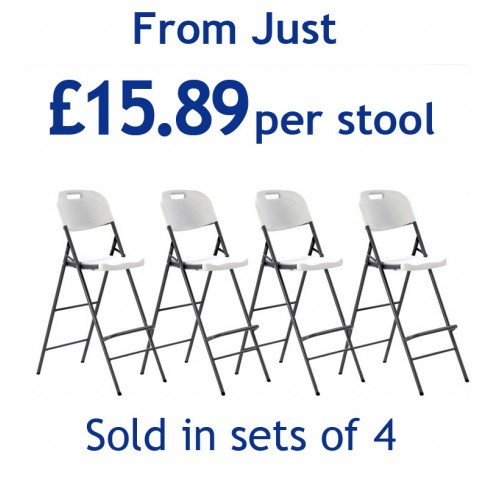 Event stools from just £15,89 each - sold in sets of 4