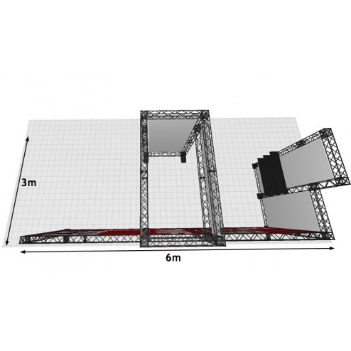 This kit is designed to fit a 6m x 3m space