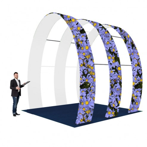 Exhibition Arch Walkway Tension Fabric Discount Displays