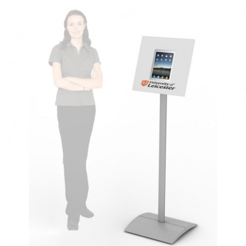Free Standing iPad Kiosk - white