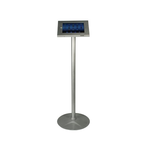 Floor Standing iPad Holder - Silver