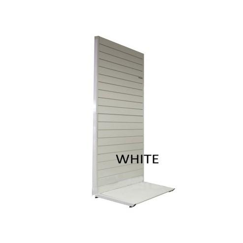 White Freestanding Slatwall Gondola