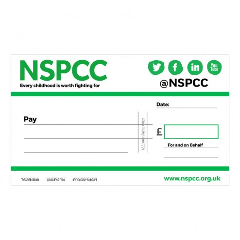 Please Contact Us To Create A Fully Customised Cheque