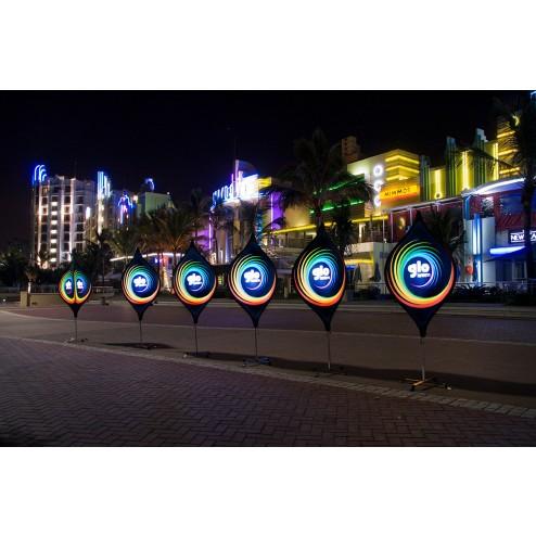 Eye-catching light-up display