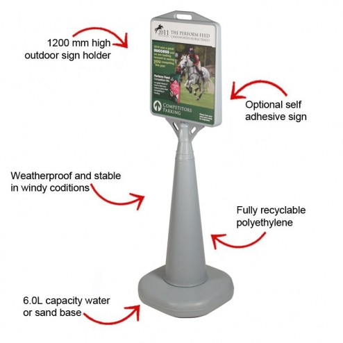 Stable outdoor display stand