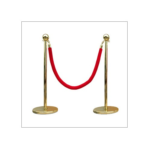 Rope and Post Special Offer - 8 Gold Posts + 7 Red Ropes