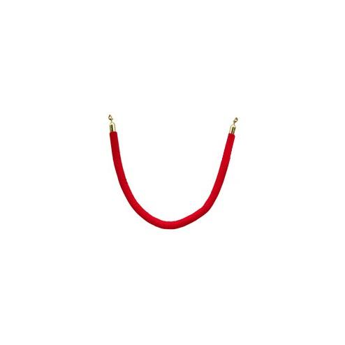 1.5m Red Velvet Rope - Gold End