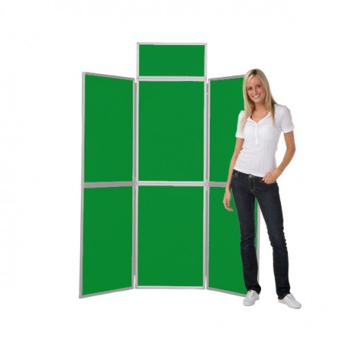 Green 6 Panel Stand