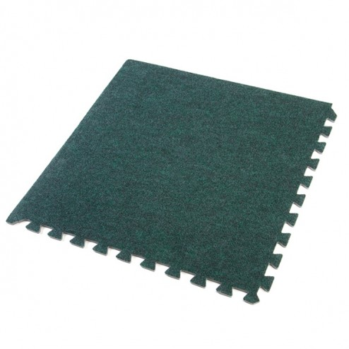 Green exhibition carpet tiles