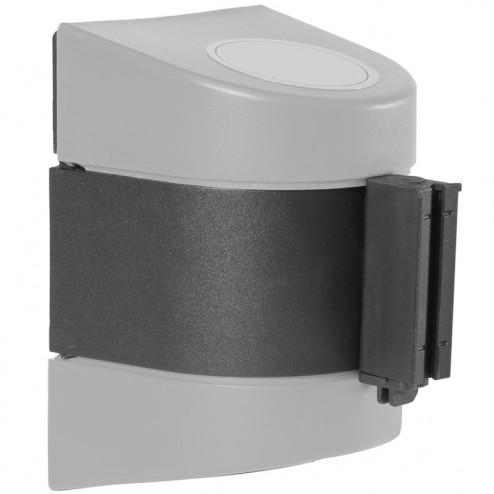Grey wall mounted versatile retracting barrier
