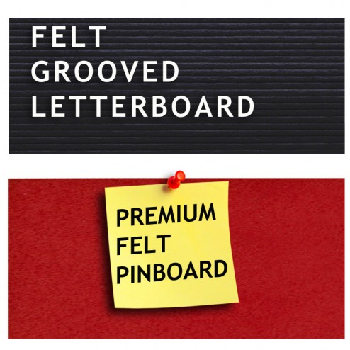 Groove board, premium felt difference