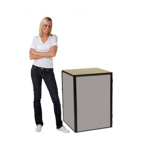Flatpack Display Plinth - Black Frame