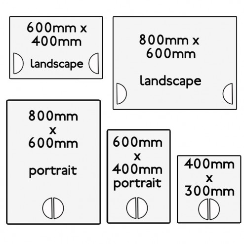 Hand Held Portest Sign Sizing