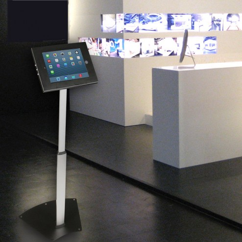 iPad stand in technology showroom
