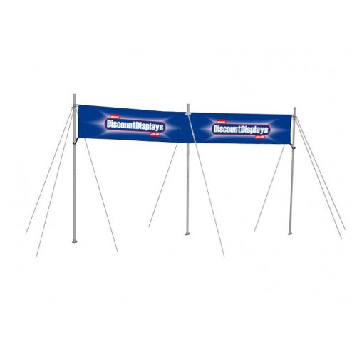 Double width banner frame