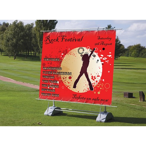 Indoor or outdoor, single or double sided banner system