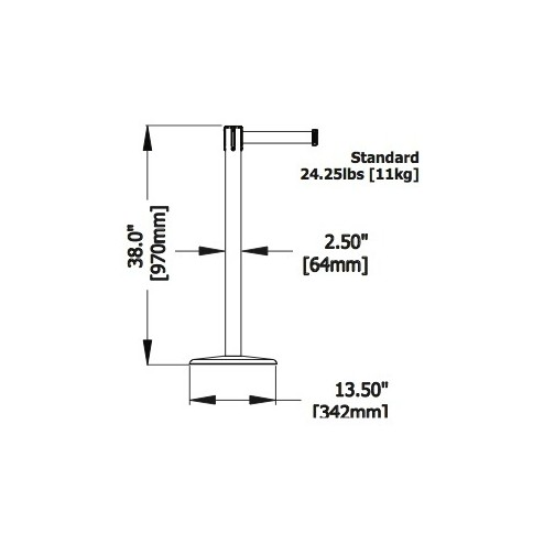 Utility Tensabarrier Dimensions