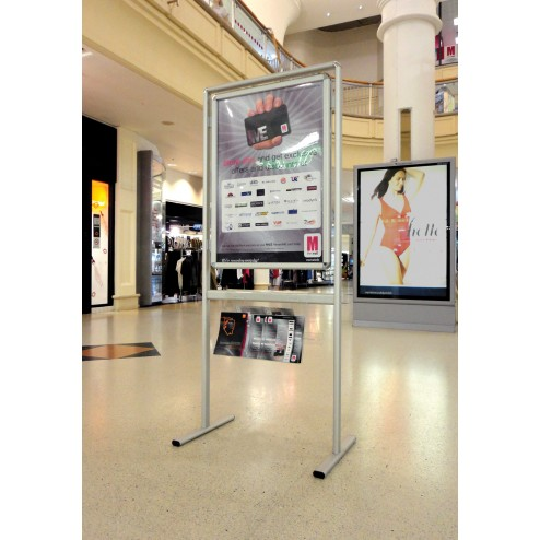 Poster Display Stand - Shopping centre