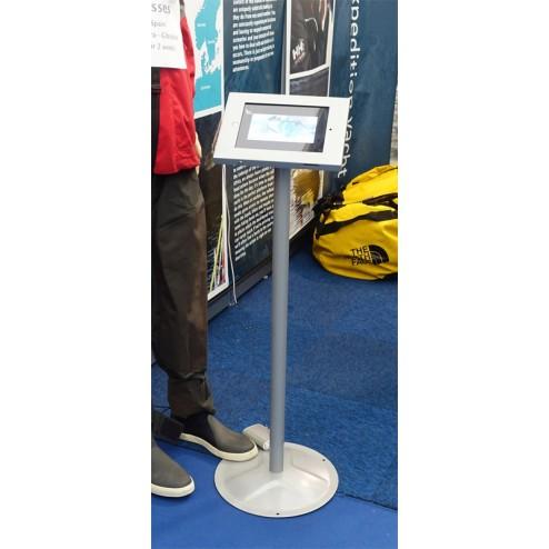 Silver finish iPad stand