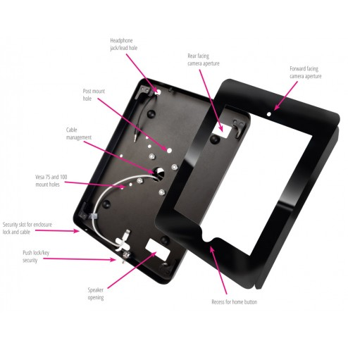 iPad holder features