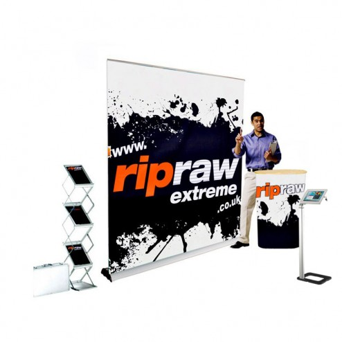 Pull up banner trade show kit With free iPad stand