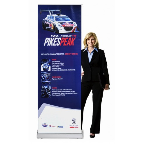 2 x Rolla 1 banner stands with graphics