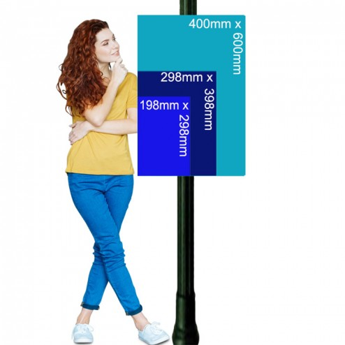 Lamp post sign Bundle sizes