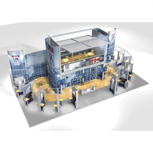 Large Modular Stand Open 2 Sides - 15x7m