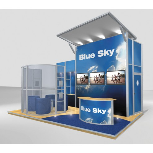Medium Modular Stand Open 3 Sides - 6x4m