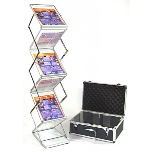 A4 folding literature rack