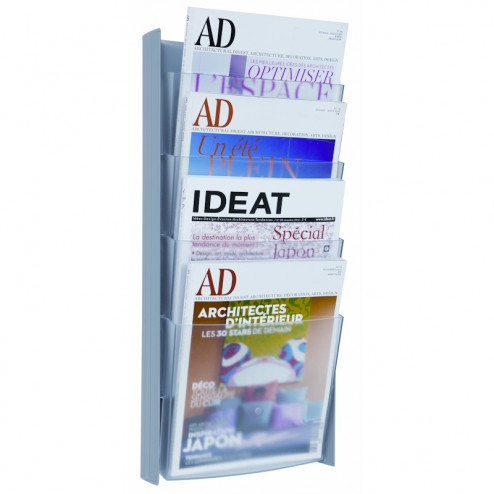 Magazine Rack Wall Mount A4 - Light Grey