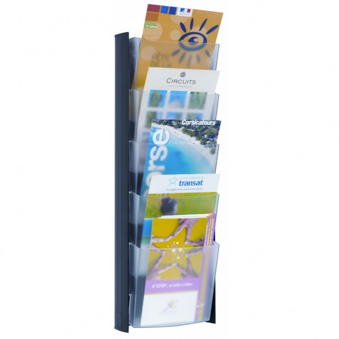 Magazine Rack Wall Mount A5 - Black