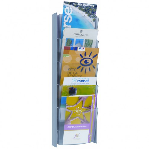 Magazine Rack Wall Mount A5 - Light Grey