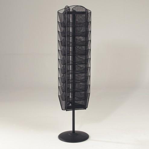Mesh Freestanding Leaflet Dispenser with black powder coat finish